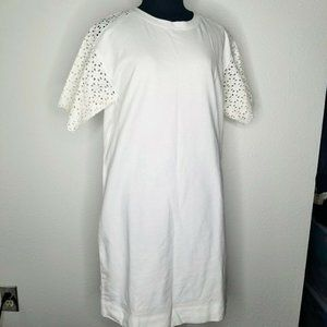 LOFT White Embroidered Eyelet Dress Summer Small